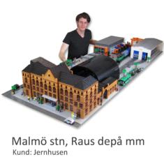 Jernhusen gestaltas i LEGO av Bremlerbrick