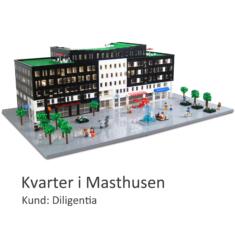 Fysisk modell av LEGO på uppdrag av Skandia Fastigheter