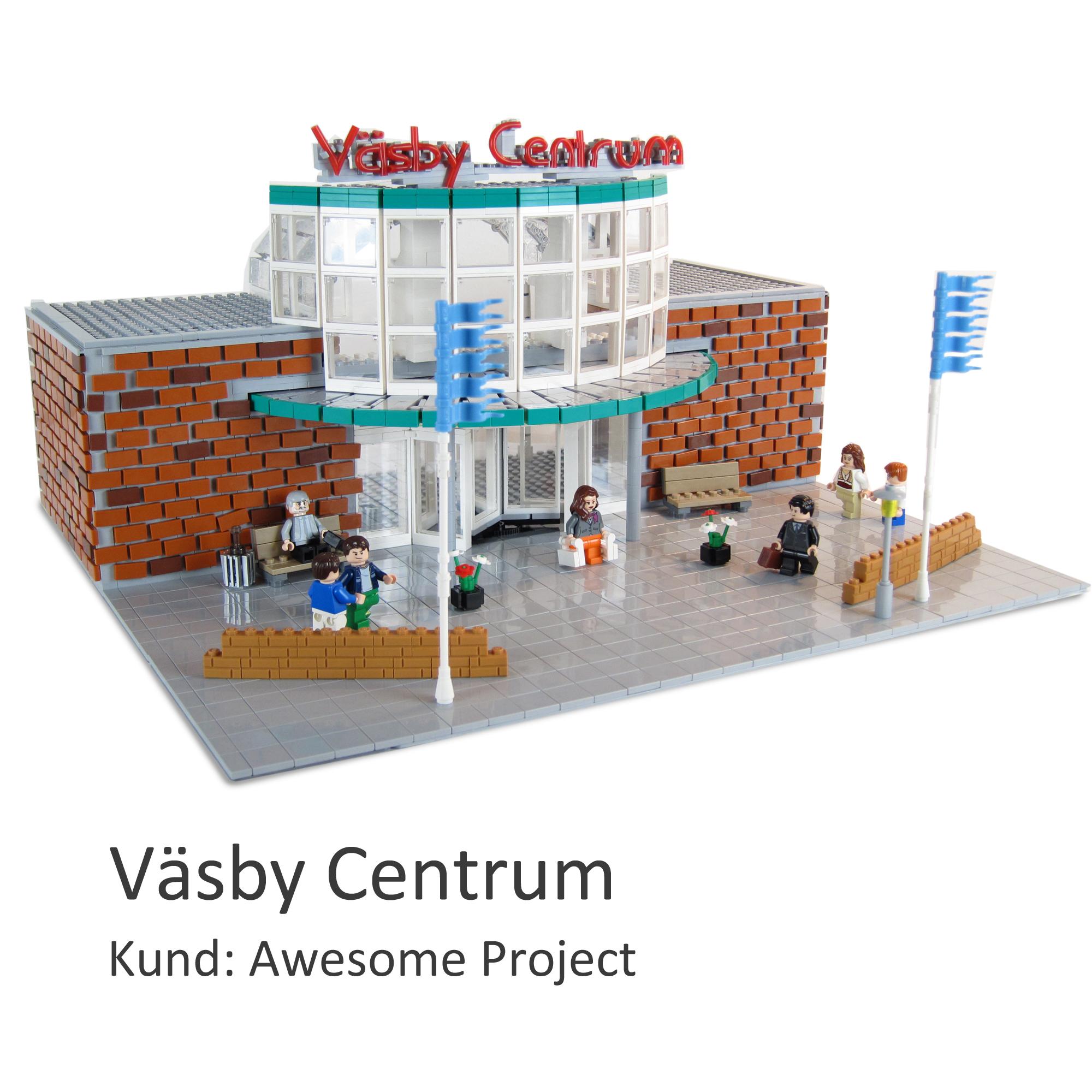 Övesiktsmodellen Väsby Centrum av LEGO