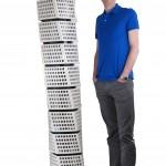 Exteriörmodeller av Turning Torso skapad i LEGO