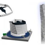 Exteriörmodeller av LEGO - Uppbyggnaden av Turning Torso