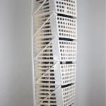 På uppdrag av NCC byggdes exteriörmodell av Turning Torso i LEGO