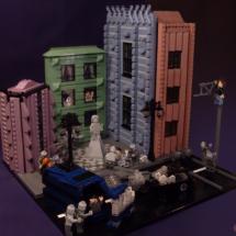 LEGO konst - Zombieattack