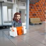 Översikts-modellen – Shoppande besökare av LEGO