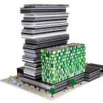 Fysiska-modeller av LEGO till arkitektkontor