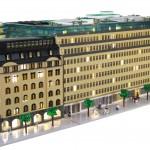 Arkitekturmodell av LEGO - Arkitekturmodeller på uppdrag av Skandia Fastigheter – Sveavägen 44