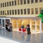 Sveavägen 44 - Arkitekturmodell av LEGO - Arkitekturmodeller på uppdrag av Skandia Fastigheter