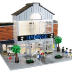 Arkitekt i LEGO byggde Haninge Centrum