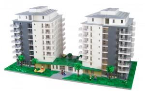 Arkitektur modell till KAB fastigheter