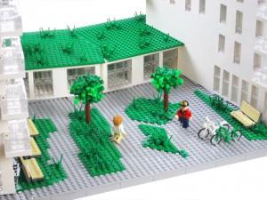KAB fastigheter firar med Arkitekt modell av LEGO