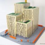 stockholms lokaltrafik samlas och får ny enté i Orgelpipan - LEGO