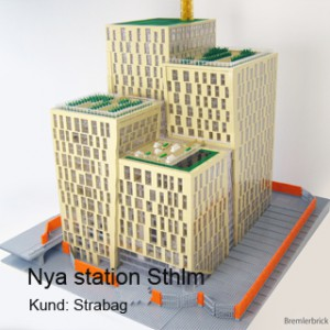 Orgelpipan & Stockholms lokaltrafik visualiseras i LEGO