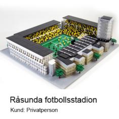 Råsunda fotbollsstadion av LEGO