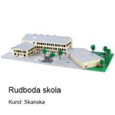 Rudboda skola som arkitekturmodeller i LEGO