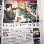 Skärholmens Centrum – Dagens Nyheter rubricerar Julgran av lego
