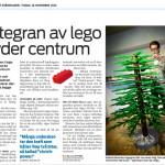 Skärholmens Centrum – Jättegran av LEGO
