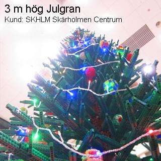 3 m. hög julgran av lego