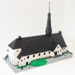 Enskede kyrka byggd av Bremlerbrick i LEGO