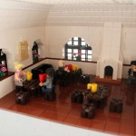 Enskede kyrka i LEGO modell