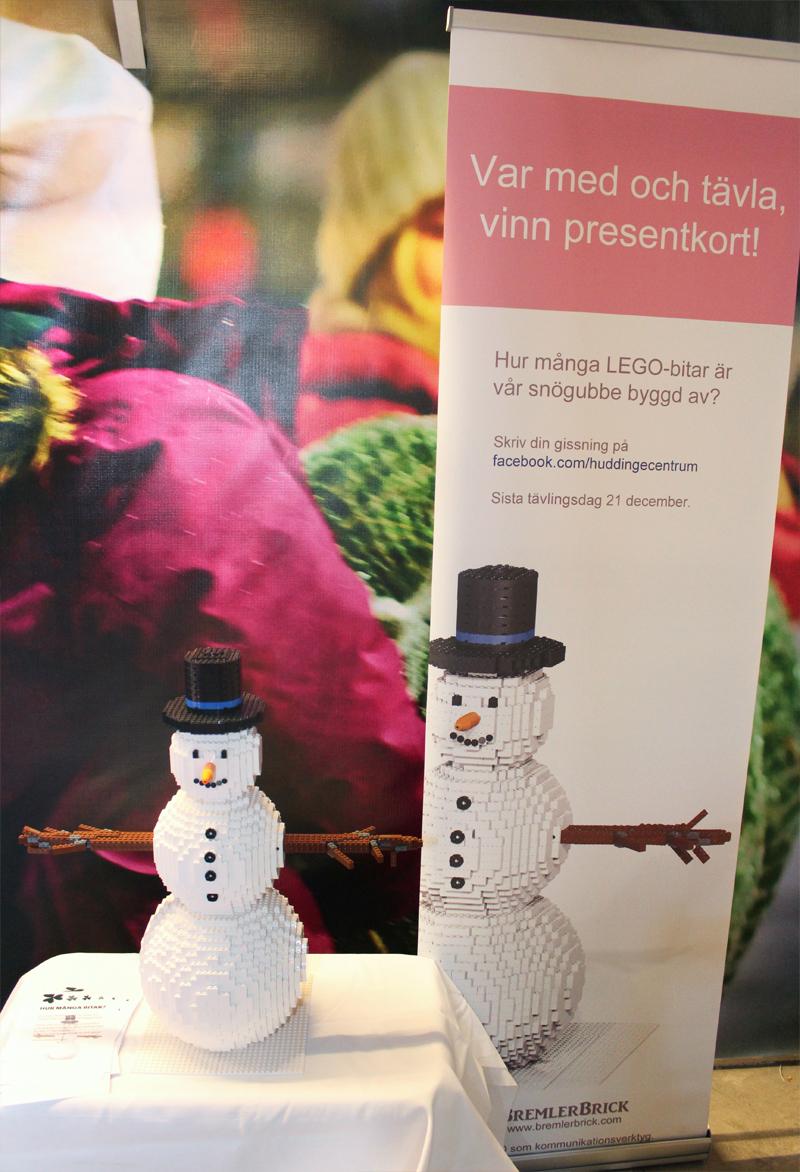Julevent och workshop - Snögubbe tävlingen där man ska gissa antalet legobitar