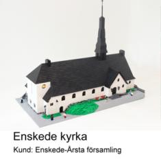 Modellen av LEGO över Enskede Kyrka