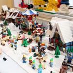 Julby byggdes upp på Huddinge centrums Jul-event