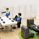 LEGO modell av lunchrummet – Dustin