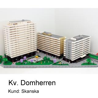 Arkitekturmodell av Kv. Domherren i LEGO