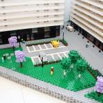 Arkitekturmodellen av LEGO på uppdrag av skanska