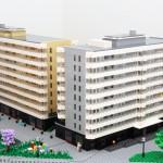 Arkitekturmodell i LEGO på uppdrag av Skanska