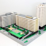 Arkitektur-modellen av Kv. Domherren till Skanska