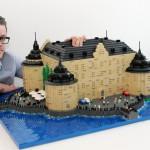 Bremlerbrick Legomodell av Örebro slott