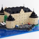 Modellen av lego föreställer Örebro slott