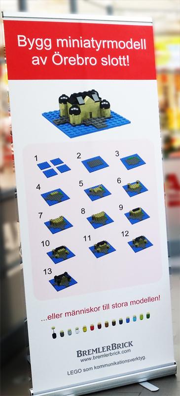 Give away event legomodell av legoslott