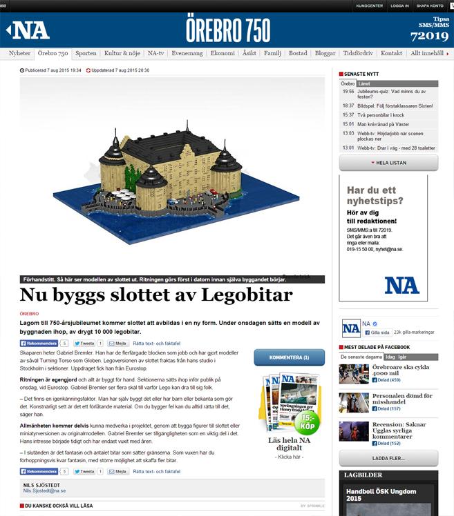 Närkes allehanda - Nu byggs slottet av legobitar