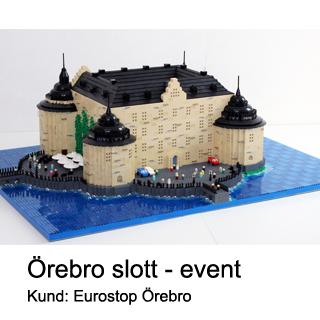 Eurostop Örebro låter Bremlerbrick bygga legoslott av Örebro slott