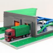 Legomodeller presenterar Envac Avfallshantering