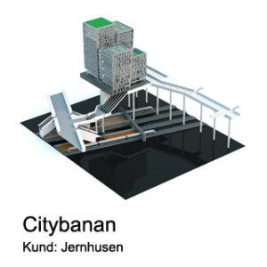 lego modellen över Citybanan i Stockholm