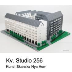 Arkitekt modell av LEGO till Skanska Nya Hem