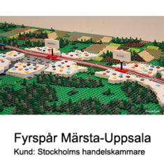 Legoprototyp - Fyrspår Märsta Uppsala