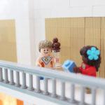 Lego-modellen illustrerar Jäfälla nya simhalls gäster