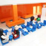 Jäfälla simhall visualiceras i legomodell