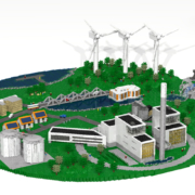 Jönköpings energi - Byggnadsmodell av LEGO