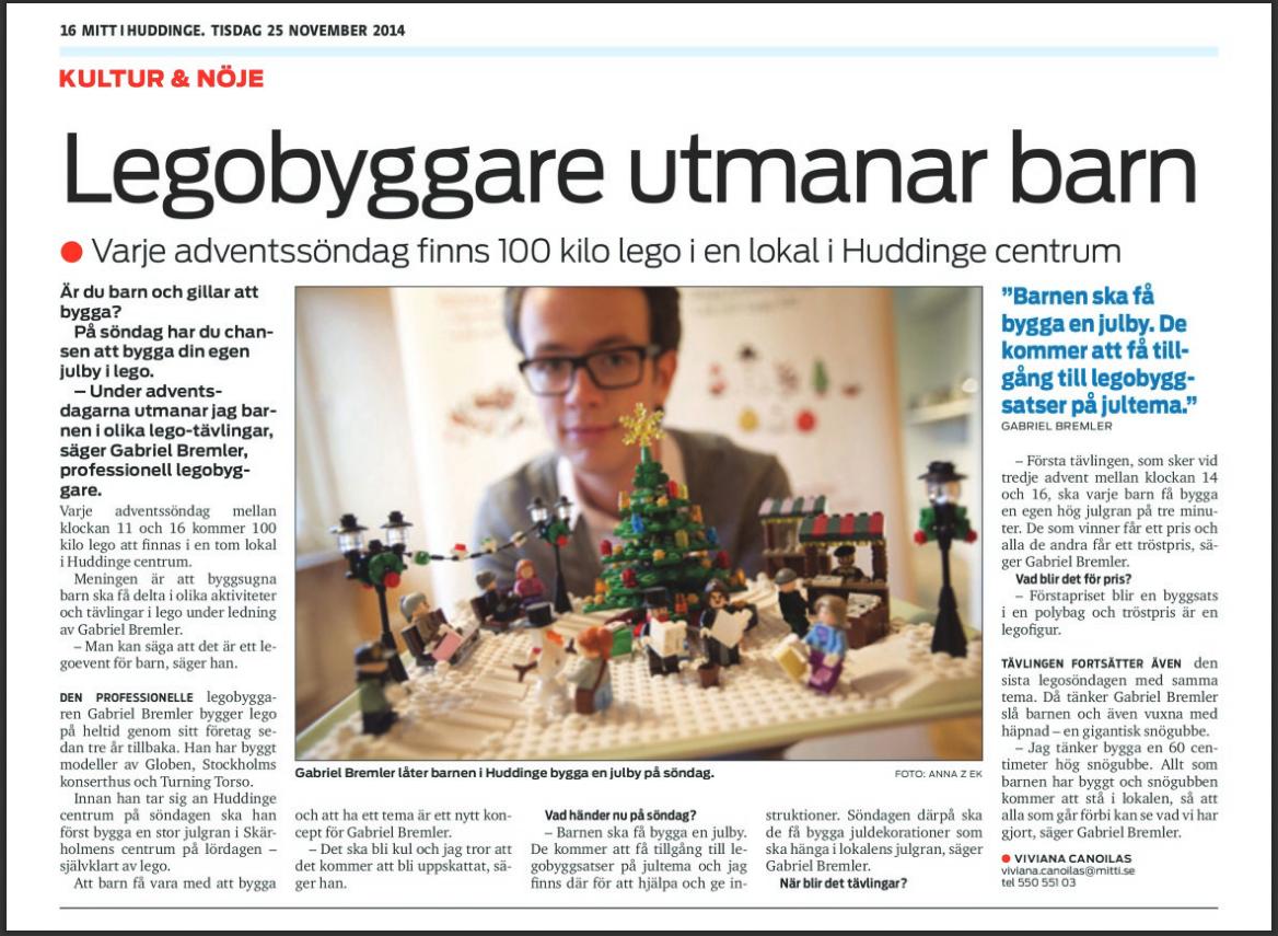 Mitt i huddinge - LEGO byggare Bremlerbrick utmanar barn