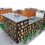 Översiktsmodell exterior arkitektur lego