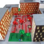 Exteriören speglas av LEGO-arkitektur