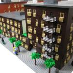 Exteriormodell visas från arkitekturmodeller av LEGO