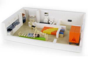 Interiören av arkitekturmodeller Annedal