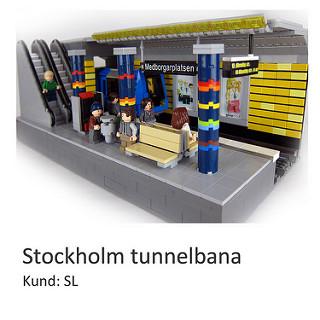LEGO city modellen av stockholm tunnelbana