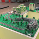 landskapsmodell legoutställning